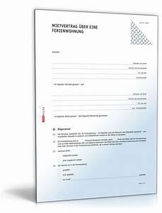 Vorkasse Rechnung Muster : mietvertrag ferienwohnung rechtssicheres muster zum download ~ Themetempest.com Abrechnung