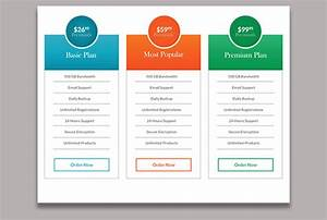 Design A Psd Pricing Table  Comparison Table  Chart
