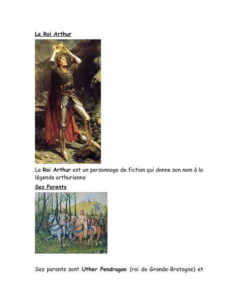 calameo expose sur le roi arthur