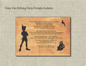 peter pan pixies and pirates printable birthday With peter pan invitation template