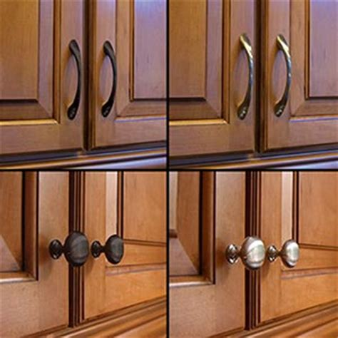kitchen cabinets knobs or handles super tip thursday one way to change the look of your