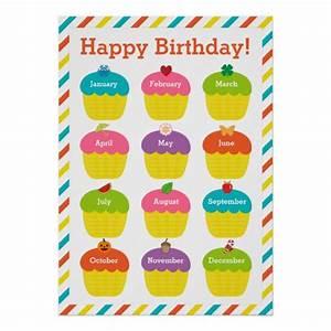 classroom birthday chart poster zazzlecom With birthday chart template for classroom