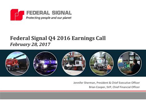 Federal Signal Corporation 2016 Q4 - Results - Earnings ...
