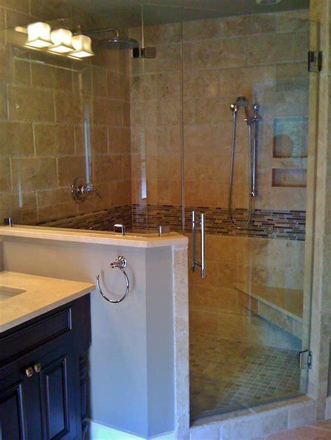 master bathroom  design shower   chiseled edge