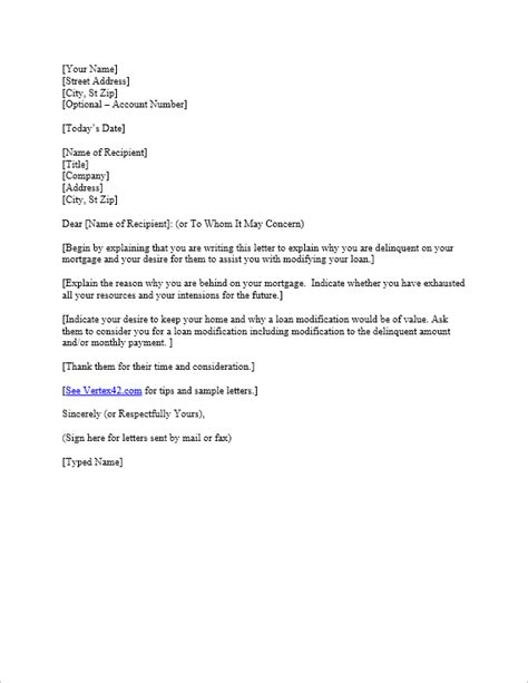 Free Hardship Letter Template | Sample Mortgage Hardship
