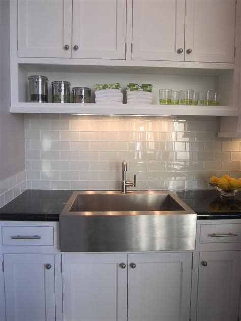gray backsplash white cabinets gray subway tile contemporary kitchen artistic