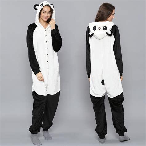 Panda Jumpsuit Schlafanzug Pyjama Kostüm Onesie