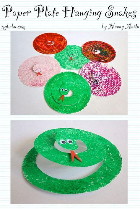 paper plate snakes snake crafts animal crafts  kids