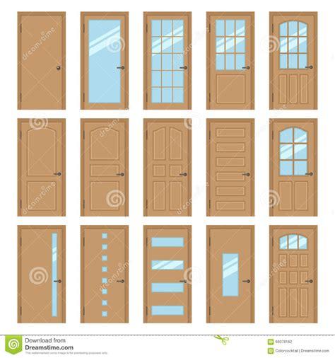 porte vitree cuisine portes intérieures illustration de vecteur image 66078162