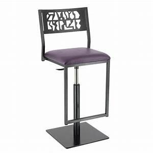 Tabouret Industriel Reglable : tabouret design industriel r glable en m tal slide 4 pieds tables chaises et tabourets ~ Teatrodelosmanantiales.com Idées de Décoration