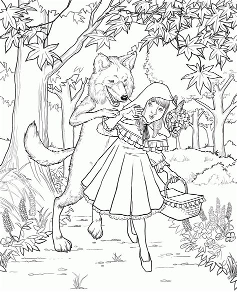 Free Little Red Riding Hood Coloring Pages Free Download