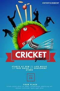 Cricket, Flyer, Template