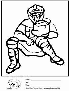 coloring pages for boys baseball catcher | For School ...
