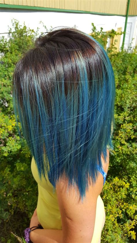 Blue Ombre Hair Ombre Bluehair Turquoisehair Hair