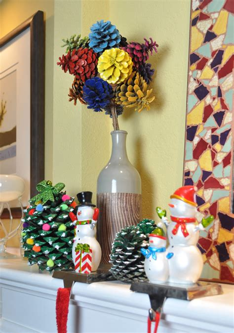christmas cone decorations 30 festive diy pine cone decorating ideas hative