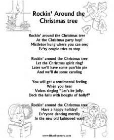 bluebonkers rockin around the christmas tree free printable christmas carol lyrics sheets