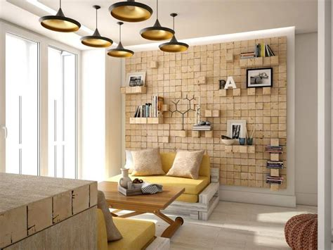Two Lovely Apartments Featuring Wood Paneling by 48 метров уюта гостиная в автор Your Project