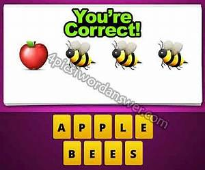 Guess The Emoji Apple Bee Bee Bee | 4 Pics 1 Word Game ...