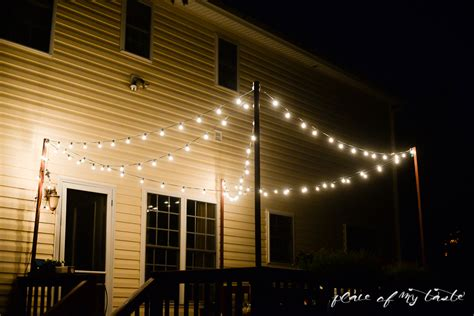 string lights over patio hang string lights on your deck an easy way
