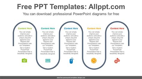 Proces Flow Diagram In Powerpoint by Five Flow Process Powerpoint Diagram Template