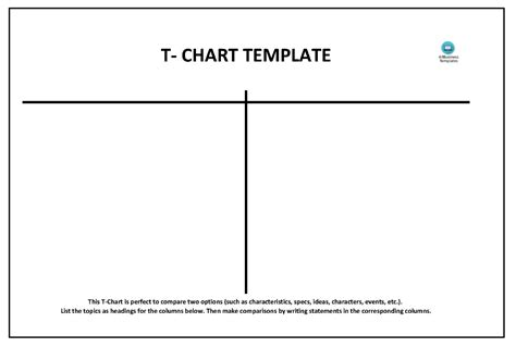 T Chart Template T Chart Templates Topics About Business Forms Contracts