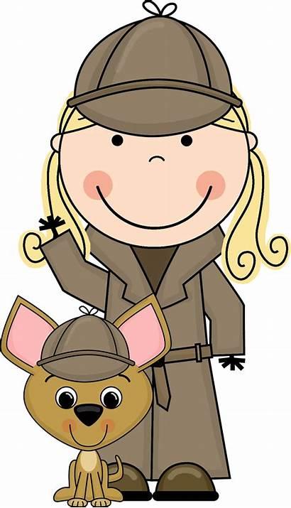 Detective Clip Clipart Cartoon Word Dog Investigator