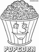 Popcorn Coloring Pages Box Drawing Template Printable Bucket Getdrawings Sketch Duathlongijon sketch template