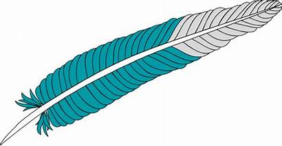 Clip Clipart Feather Bird Feathers Cliparts Indian