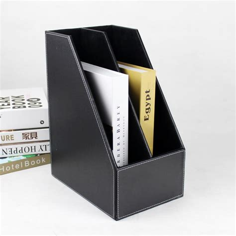 book holder for desk a4 2 slot wood desk file book stand storage box holder