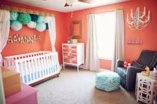 Mint And Coral Crib Bedding by Top Nursery Trends Of 2012