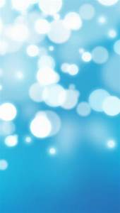 Bright Blue Bokeh Wallpaper - Free iPhone Wallpapers