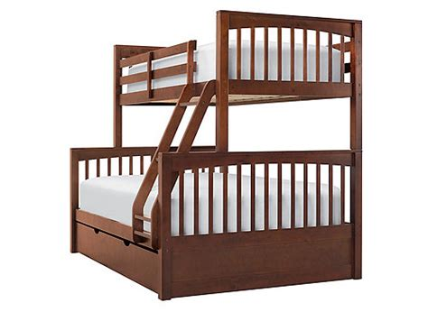 jordan twin over full bunk bed w trundle cherry