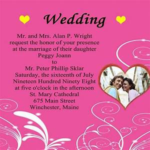 wedding invitation wording wordings for wedding With e wedding invitation card wordings
