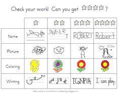 Coloring Rubric by Rubrics On Writing Rubrics Kindergarten