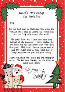 Christmas Santa & Gigi Horse A4 Child s Letter from Santa