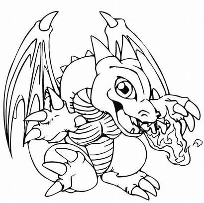 Coloring Pages Dragon Pokemon Skyrim Printable Cartoon