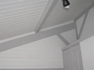 revgercom peindre lambris lasure plafond idee With peindre du lambris bois en blanc