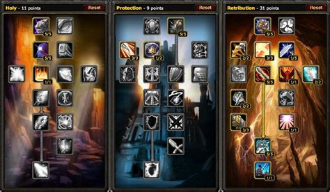 paladin talent vanilla protection wow spec retribution build tree ret holy pvp pve guide reck seal aoe rogue righteousness damage