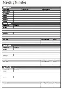 Meeting minutes template printable templates for Taking minutes in a meeting template