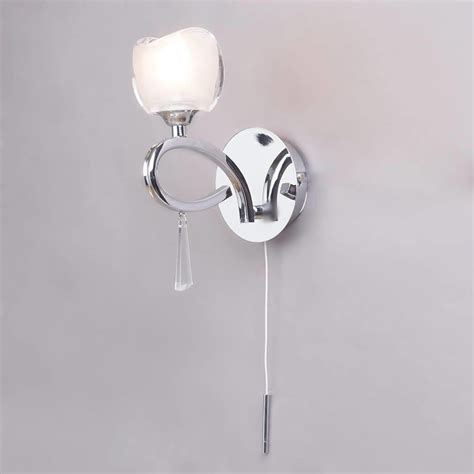 marta glass decorative wall light pull cord switch 1