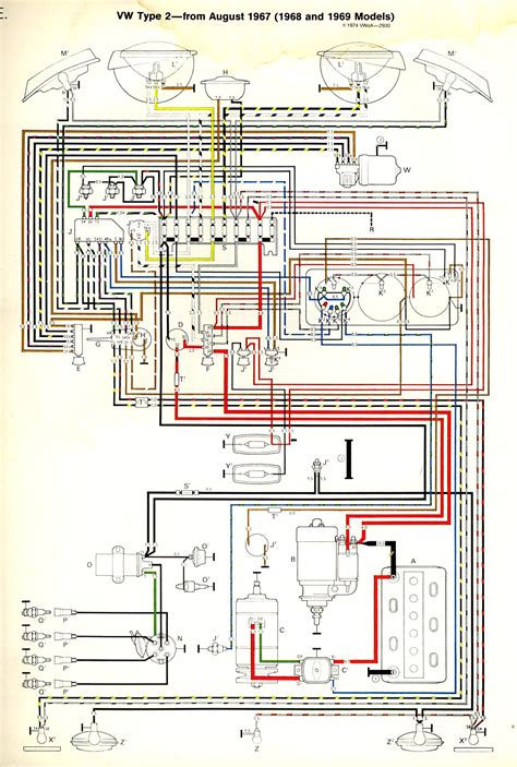 Diagram 10 Fuse Box Wiring For 1968 Vw by Thesamba Bay Window View Topic 69
