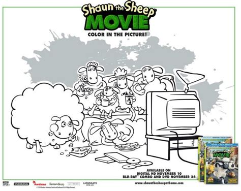 Shaun The Sheep Free Printable Coloring Sheet