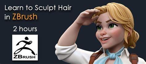 video tutorial sculpting hair  zbrush  zbrush