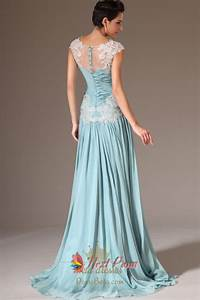 Cap Sleeve Light Blue Casual Prom Dresses,Light Blue ...