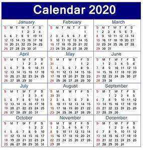 Calendar 2020 With Week Numbers Images 32