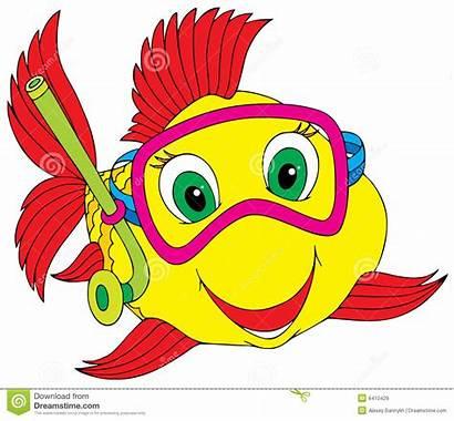 Fish Clipart Clip Ocean Diver Royalty Cartoon