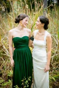 forest green bridesmaid dresses outdoor forest wedding on the connecticut river