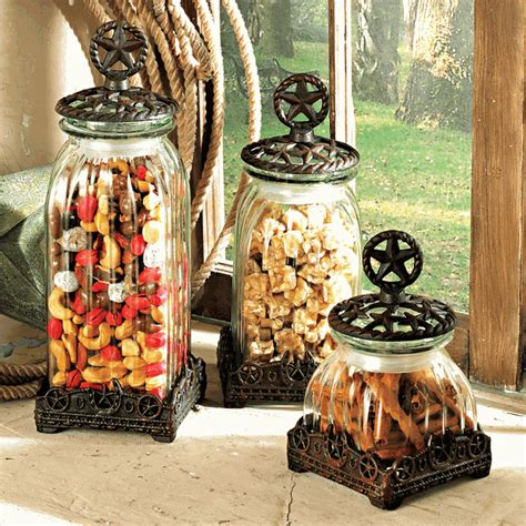 Western Kitchen Canister Sets by Cast Iron Canister Set 3 Pcs