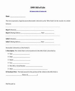 Blank Bill Of Sale Template Free 12 Sample Bill Of Sales In Pdf Excel Ms Word