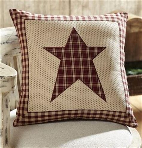cheston star fabric pillow  filled primitive star